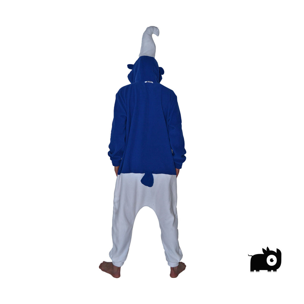 Blue Gnome Onesie (blue/white) inspired by Smurfs