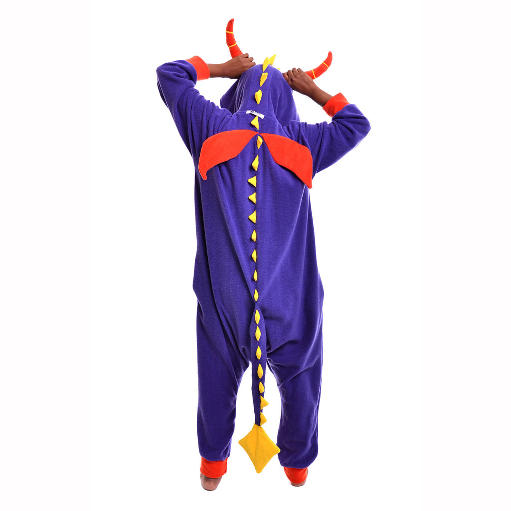 Purple Dragon Onesie (Purple/Yellow) inspired by Spyro the dragon