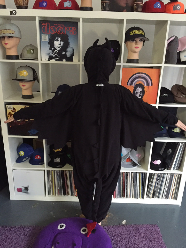 Black Dragon Onesie (black) inspired by Toothless