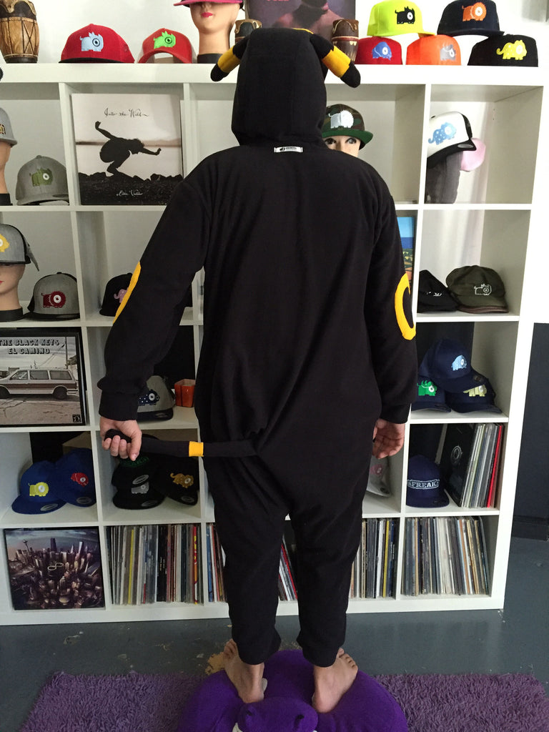 Black Poke em on Onesie (black/yellow) inspired by Umbreon