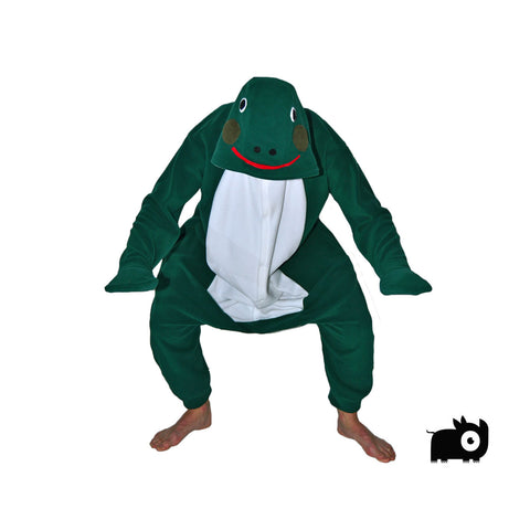Frog Onesie (Green/White)