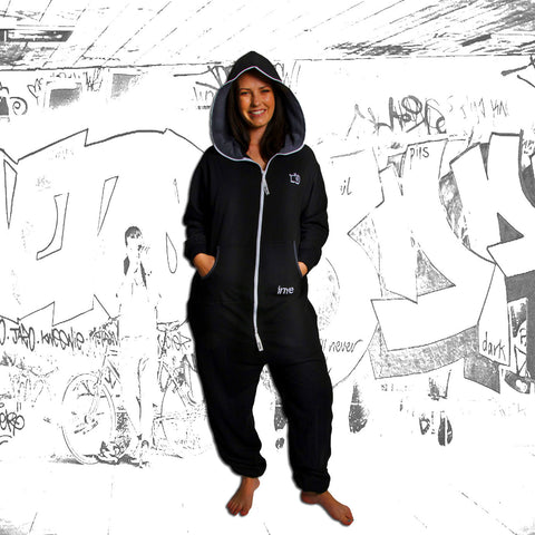 Black & Charcoal Inye Onesie