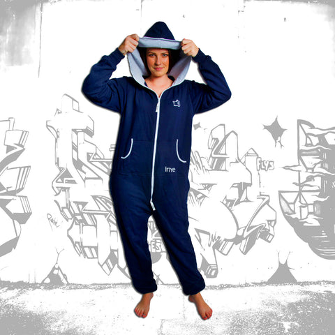 Navy Blue & Grey Inye Onesie