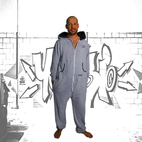 Grey & Black Inye Onesie
