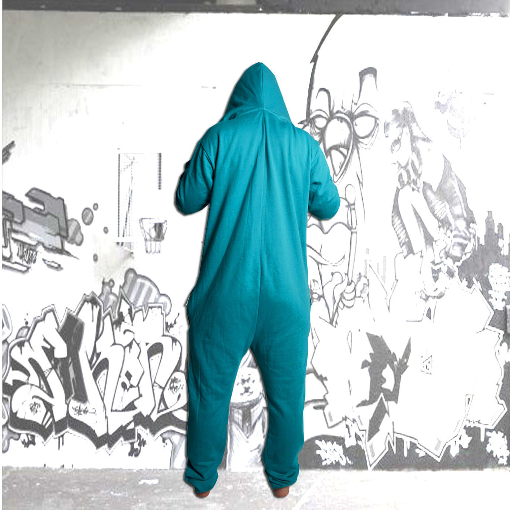 Jade Green & Grey Inye Onesie