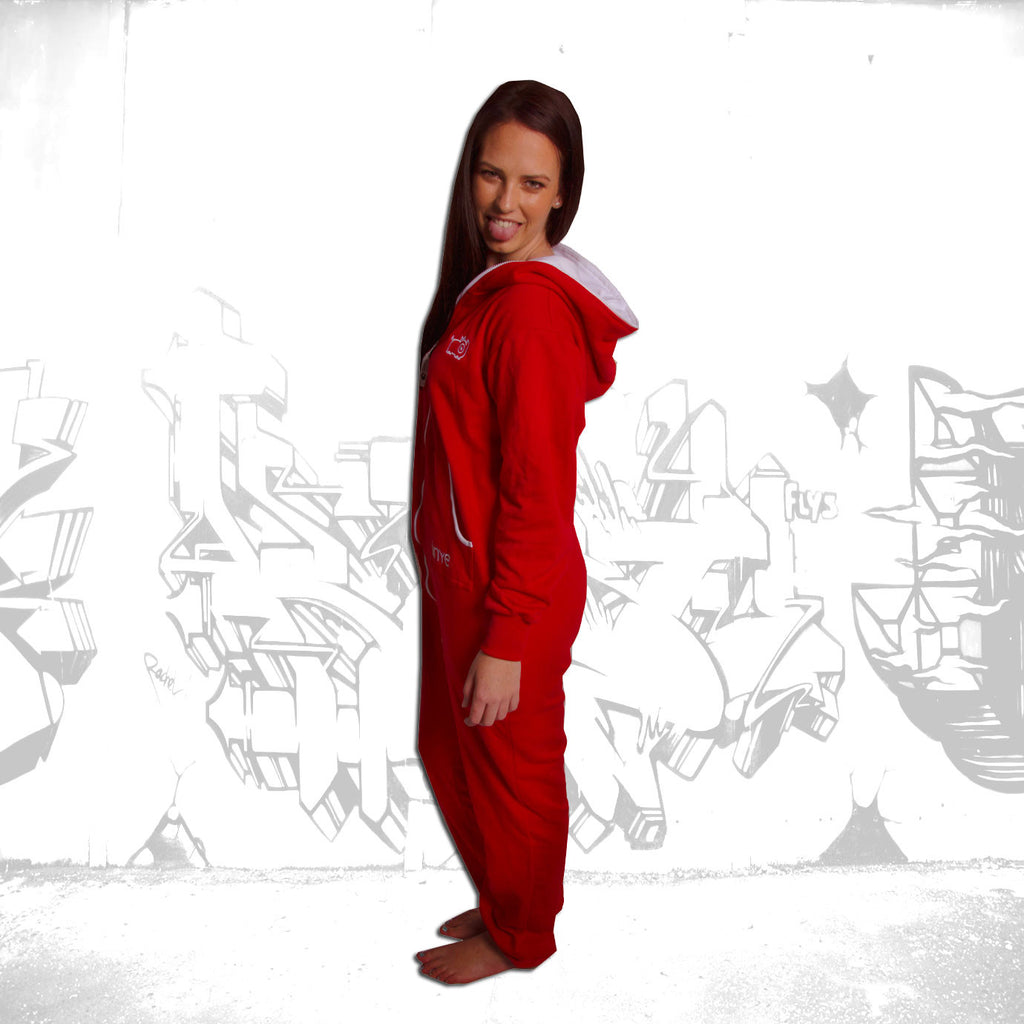 Red & White Inye Onesie