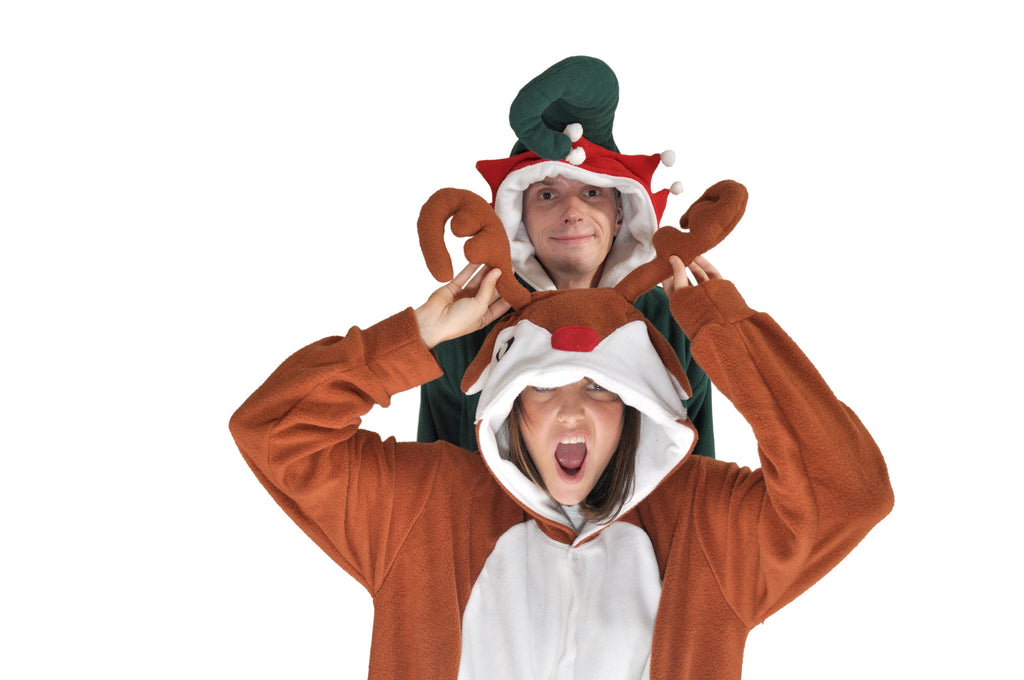 Elf Onesie (green/white)