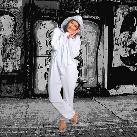 White & Grey Inye Onesie
