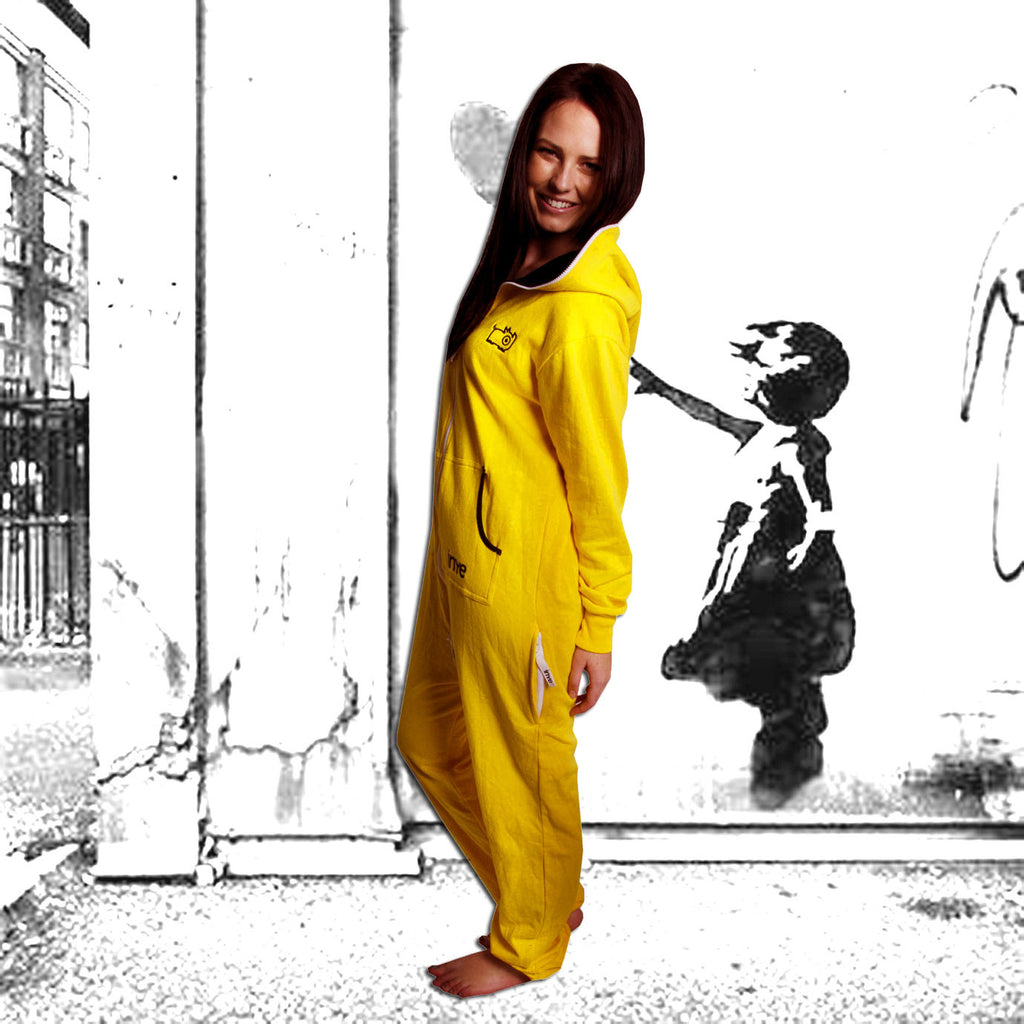 Yellow & Black Inye Onesie