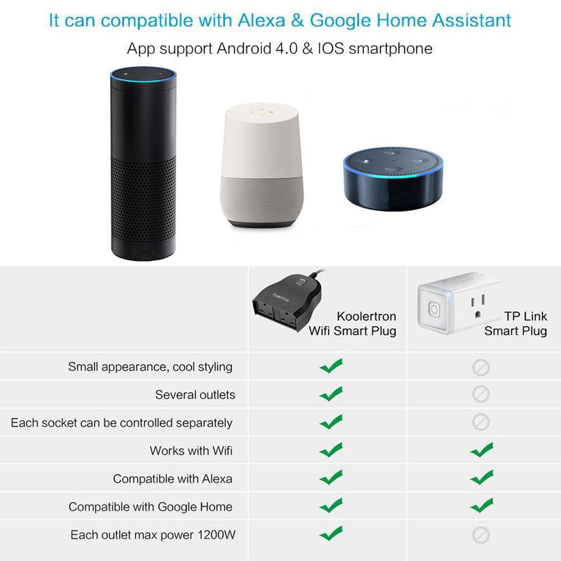 2 in 1 Alexa, and Google compatible Smart Outdoor Plug