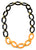 Ivylish Turtle D/E Orange Lacquer Link Chain Necklace