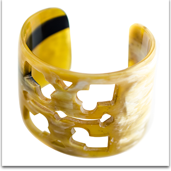 Ivylish Lily A All Natural Water Buffalo Horn Cuff Bangle