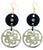 Ivylish Iconic Fish & Heart Dragon A Round Drop Earrings