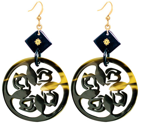 Ivylish Fish & Heart Dragon B Buffalo Horn Earrings