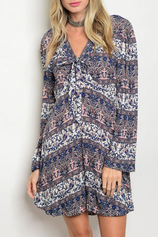 Blue Paisley Tunic Dress