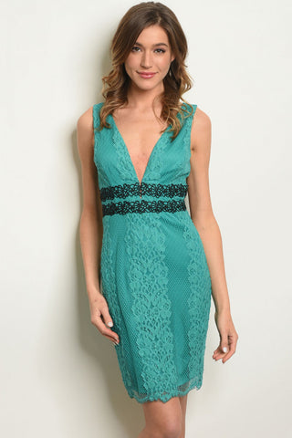 Tiffanie Teal Dress