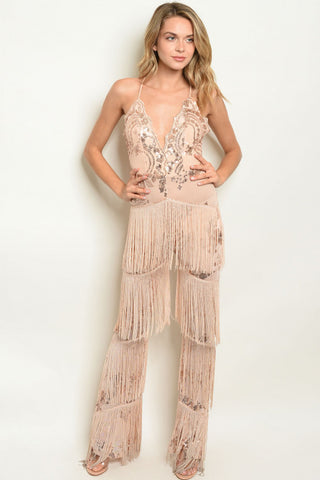 Flapper Sequin Jumpsuit