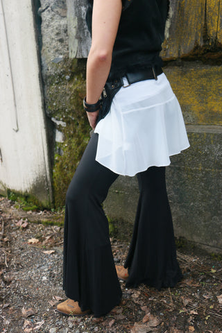 Super Wide Leg Black Bell Bottoms
