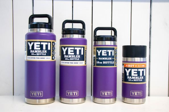 YETI Purple Waterbottles