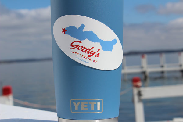 Gordy's Oval Lake Sticker