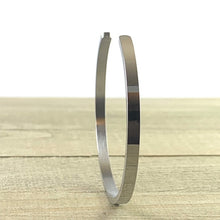 "Load image into Gallery viewer, ""Thank U, Next"" Silver Mantra Cuff Bracelet"