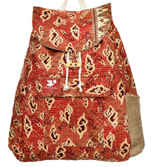 Indonesia Sarong Tote - Red