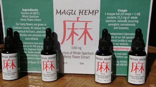 1,000 mg Magu Hemp Tincture of Whole Spectrum Hemp Flower Extract - 1 oz