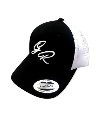 GymRagz™ Black/white trucker hat GR - GYMRAGZ ATTIRE