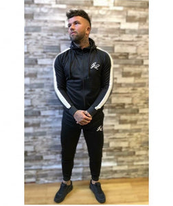 Black poly tracksuit top