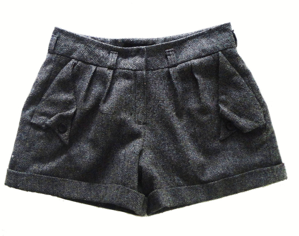 Tailored Tweed Shorts