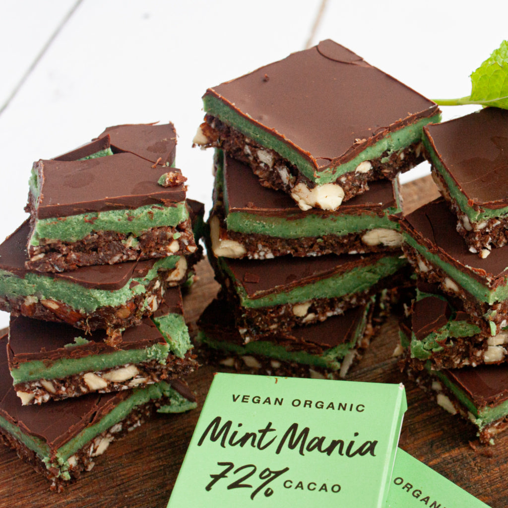 peppermint chocolate cream slices