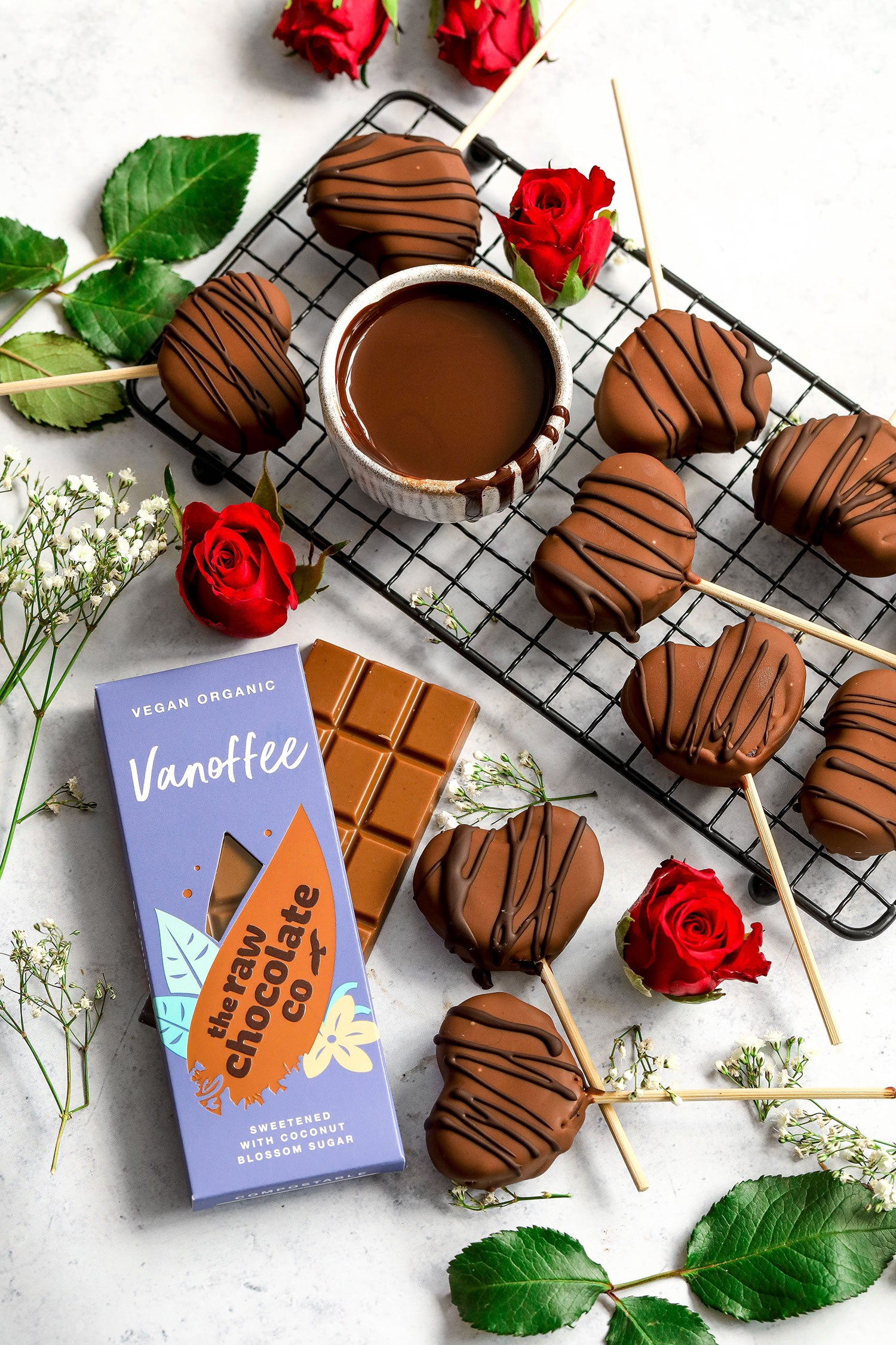 vegan vanoffee chocolate brownie hearts