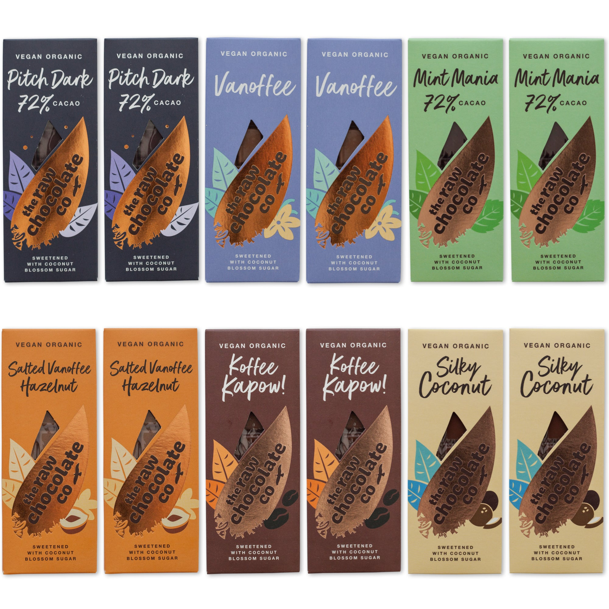 Raw Chocolate Bar Collection (15% off RRP)