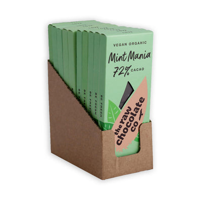 Mint Mania Bar - The Raw Chocolate Company