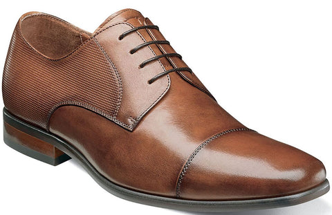 POSTINO CAP TOE OXFORD-Medium -                      Cognac