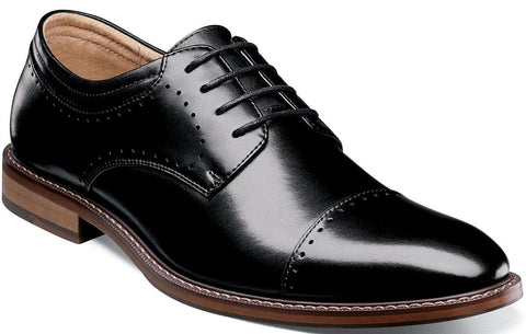 FLEMMING CAP TOE OXFORD-Medium -                      Noir