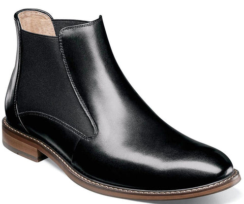FABIAN PLAIN TOE CHELSEA BOOT-Medium -                      Noir