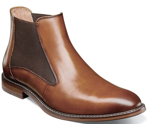 FABIAN PLAIN TOE CHELSEA BOOT-Medium -                      Cognac