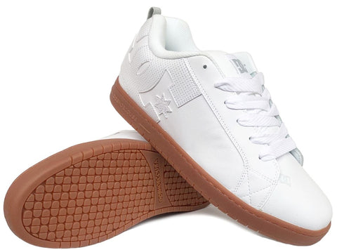 COURT GRAFFIK-Medium -                Blanc/Gum