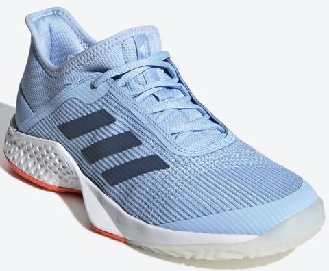 ADIZERO CLUB (tennis)-Medium -                Bleu/Blanc/Corail