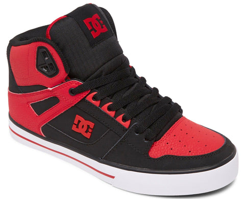PURE SE HIGH TOP-Medium (Fait large) -                Rouge/noir