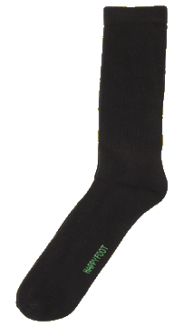 12-16 (3 PAIRES) chaussettes hautes (Crew) sans compression HAPPY FOOT MHA212