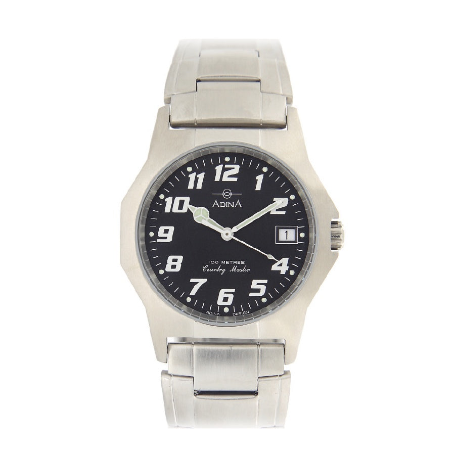 Gents 100m Country Master S/S Black F/F Watch