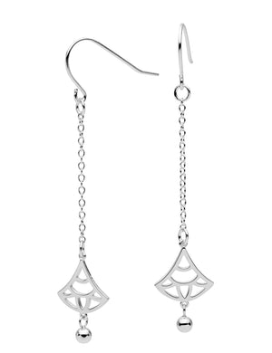 Light Unravels Earrings Sterling Silver