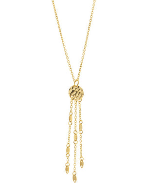 Isle of Dreams Necklace - Stainless Steel Yellow Gold Plated