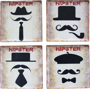 Hipster Coasters Set of 4