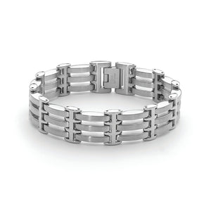 Brushed Stainless Steel Bracelet 22cm