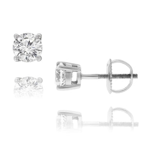 14ct White Gold Diamond Studs TDW 0.40ct