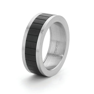 Stainless Steel /Ip Black Ring Size Y