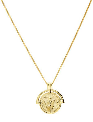 Berkley Yellow Gold Plated Sterling Silver Necklace 44cm